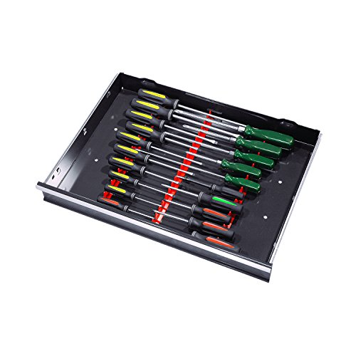 『Ernst Manufacturing 6011M-Black 20-Tool Screwdriver Rail Set with Magnetic Backing by Ernst Manufacturing』の2枚目の画像