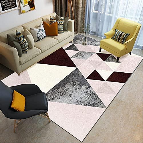 IRCATH Color Geométrico Triángulo Patrón de Puntada Impresión de Alta definición Cómoda y Resistente a la Suciedad Cama de Noche Alfombra de Cama interior-50x120cm Las alfombras Son aptas para Suelos