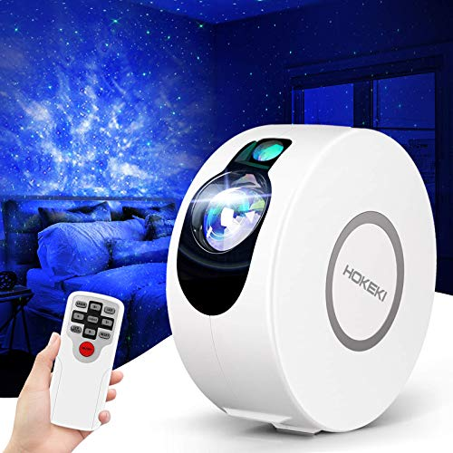 Star Projector, Galaxy Projector with LED Nebula Cloud,Star Light Projector with Remote Control for Kids Adults Bedroom, HOKEKI Night Light, SuitableFor Bedroom and Party Decoration (White)