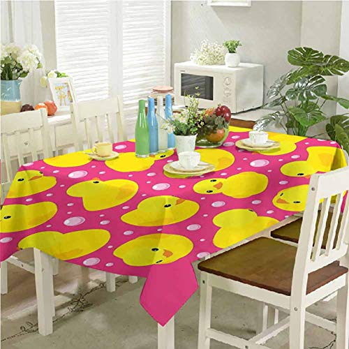 Great Features Of Table Cover Cloth Rubber Duck Desktop Decoration Fun Baby Duckies Circle Artsy Pat...