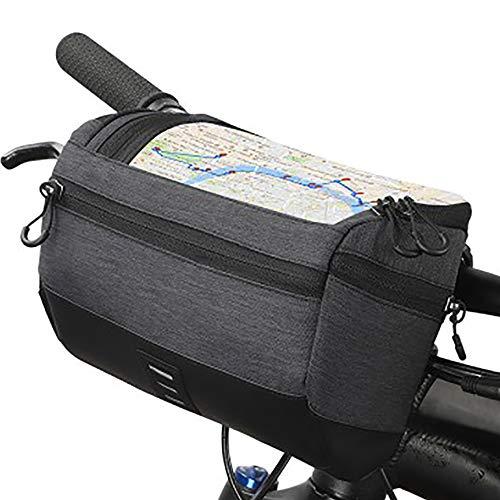 Bolsa de manillar para bicicleta o patinete eléctrico, gran capacidad y fácil...