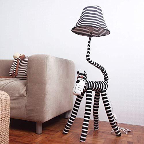 BINGFANG-W Dormitorio Llevó la historieta creativa lámpara de pie, Gato estrella gente Lámpara de piso, los niños Habitación Habitación Sala lámpara de cabecera Eye-Cuidado Vertical luz del piso Lámpa