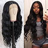 Best Full Lace Wig Glues - Oxeely Black Long Loose Curly Wavy Glueless Lace Review