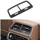 HKPKYK Para Audi A6 C8, Car styling Fibra de carbono Botones del panel de salida del aire acondicionado de la fila trasera Cubiertas Pegatinas