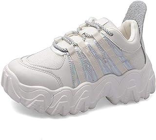 Damessneakers Mode Ademende schoenen met dikke bodem Dames Veterschoen Platform Dikke sneakers Ronde neus Lopende casual s...