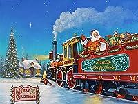 1000ピース ジグソーパズル サンタエクスプレス 大人も子供も楽しめるパズル - 無料ポスター付き