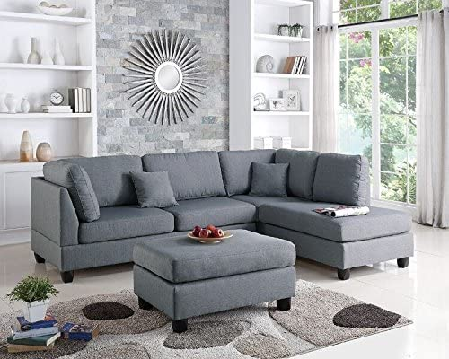 Best Poundex Upholstered Sofas/Sectionals/Armchairs, Grey