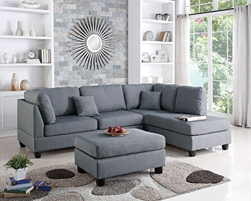 Poundex Upholstered Sofas/Sectionals/Armchairs, Grey