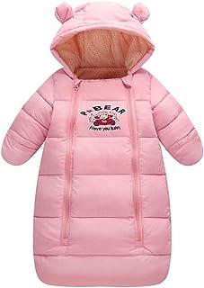 Saco de dormir para bebés 3 Tog, Recién Nacido Mangas Largas con Capucha Mameluco Invierno Frente de Cremallera 6-18 Mese...
