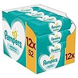 Pampers Sensitive Feuchttücher 12 Packungen (12 x 52 Stück), 624 Feuchttücher, Mit Dem Einzigartigen Pampers PH-Ausgleich, Dermatologisch Getestet