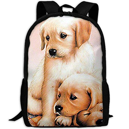 sghshsgh Rucksack für Hochschule,New Student Backpack School Backpack for Laptop Most Durable Lightweight Cute Travel Water Resistant School Backpack Cute Three Puppies Sleeping Dogs Casual Daypack