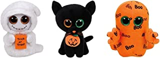 TY Beanie Boos 2016 Halloween set -MIST,SHADOW, GHOULIE