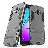 Samsung Galaxy J7 Duo 2018 Case, FoneExpert Shockproof Rugged Impact Armor Slim Hybrid Kickstand Protective Cover Case for Samsung Galaxy J7 Duo 2018