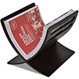 Tidyard Soporte Revistas, Cesta Periódicos, Diseño Moderno Revistero de Madera de Suelo marrón