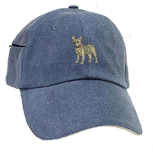 YourBreed Clothing Company French Bulldog Low Profile Baseball Cap with Zippered Pocket.