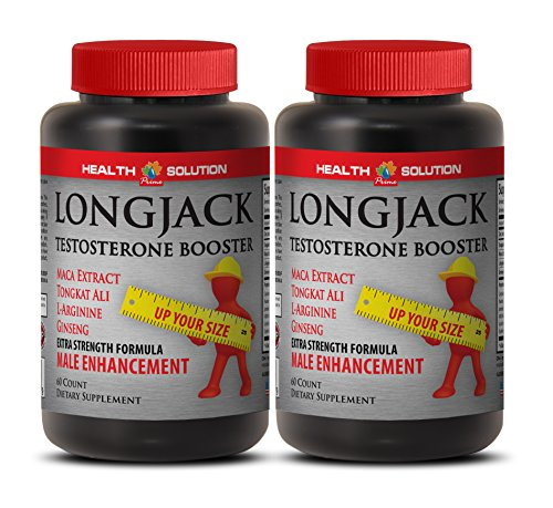 Natural Male Enchantment Pills Increase Size and Length - LONGJACK Size UP (All Natural Formula) - Tongkat ali Extract - 2 Bottles 120 Capsules