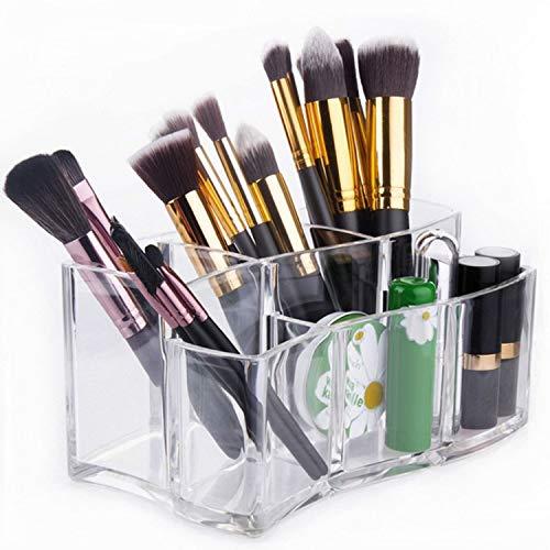 6 Grilles Transparent En Plastique Rouges À Lèvres Maquillage Pinceau À Sourcils Crayons Cosmétiques Présentoir Rack Titulaire Organisateur pour Filles Femmes Centres Commerciaux À La Maison