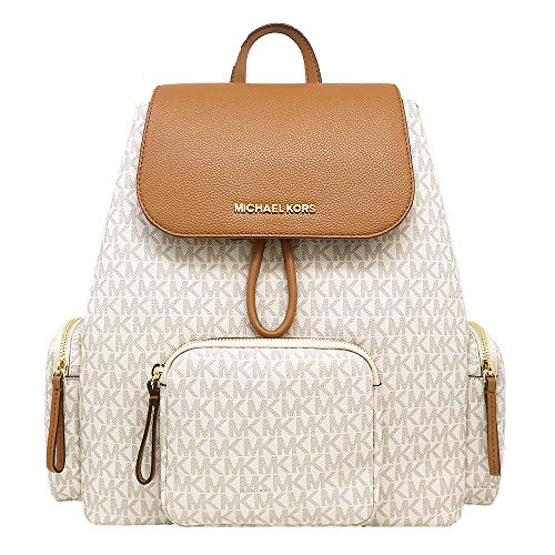 Michael Kors Abbey Large Signature Cargo Backpack (Vanilla)