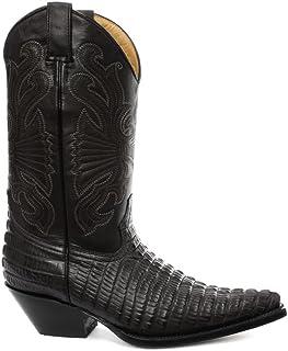 Grinders Carolina Homme Western Cowboy Bottes, Noir