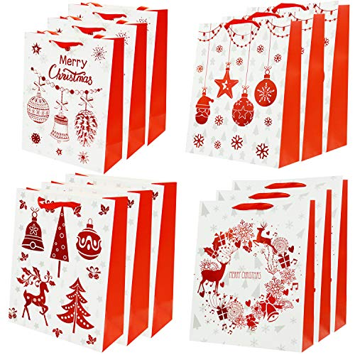 Bolsas De Papel Kraft Regalo   Bolsas Navideñas Regalos De Navidad 30 x 32 12 pc Regalos - Bolsas de Regalo...