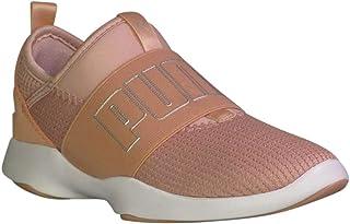 حذاء رياضي عصري للفتيات الصغيرات Dare Interest Mesh من PUMA بلون الخوخ والبيج والفضي