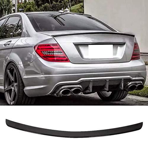 DAJIJI Spoiler de Carro, Tapa de la Tapa de ABS Spoiler Glossy Black para AMG Style Fit para Mercedes-Benz Clase C W204 Sedan 2008-2014