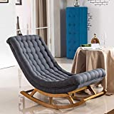 <span class='highlight'><span class='highlight'>YLCJ</span></span> Leisure Rocking Chair Recliner Solid Wood Elderly Pregnant Woman Balcony Single Sofa Chair Lazy Sofa Single Chaise Lounge Chair Leisure Lunch Break Chair (Color : D)