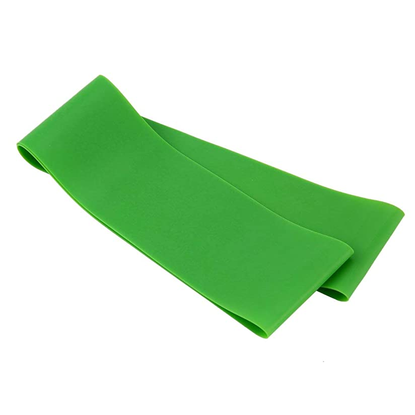 処分した硫黄光電滑り止め伸縮性ゴム弾性ヨガベルトバンドプルロープ張力抵抗バンドループ強度のためのフィットネスヨガツール - グリーン