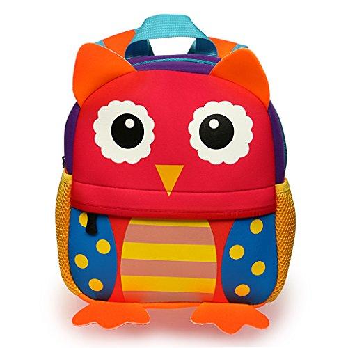 Hipiwe , Zainetto per Bambini Red Owl,Small Size 21 * 13 * 31cm