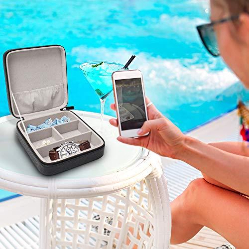 Swtzstyleメガネサングラストラベルケース収納おしゃれコレクションレザー旅行用時計GlassesCaseforTravelStoragebox