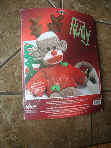 Janlynn Rudy Holiday Sock Monkey Kit, 21-Inch Long
