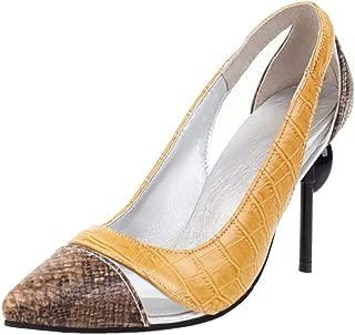 TAOFFEN Women Fashion High Heel Pumps Pointed Toe