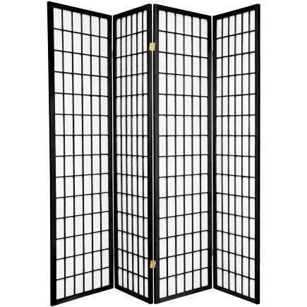 Fine Asianliving Japanischer Raumteiler L180xH180cm Paravent Shoji Reispapier TANA/B4 Sichtschutz Trennwand Faltbar Raumtrenner Spanische Wand - 112-519