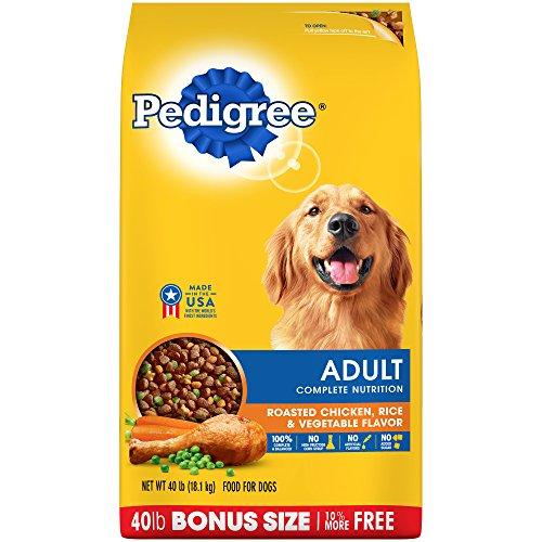 Pedigree Complete Nutrition Adult Dry Dog Food Roasted Chicken, Rice & Vegetable Flavor, 40 Lb. Bag