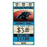 WinCraft NFL CAROLINA PANTHERS Ticket Wood Sign