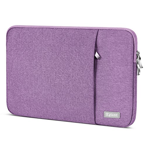 egiant Laptop Sleeve 13.3 inch, Fabric Waterproof Protective Carrying Case Bag for MacbookAir 13/Pro 13 Touch Bar Surface Book & 13 Acer Dell Samsung Asus Lenovo Chromebook Notebook (Purple)