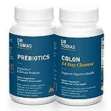Dr. Tobias Digestive Kickstarter Bundle with Colon 14 Day Cleanse & Prebiotics for Gut Health