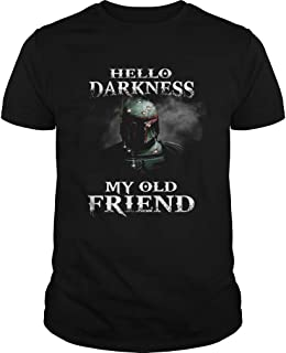 New Collection T shirt for Woman, Man anniversary Star Wars Boba Fett Hello Darkness My Old Friend shirt