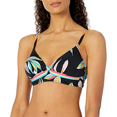 Profile by Gottex Women's Halter V-Neck Bikini Top Swimsuit, Paparazzi Multi Black, 14