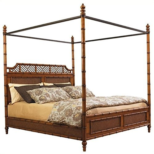 Tommy Bahama Home Island Estate West Indies Queen Poster Canopy Bed