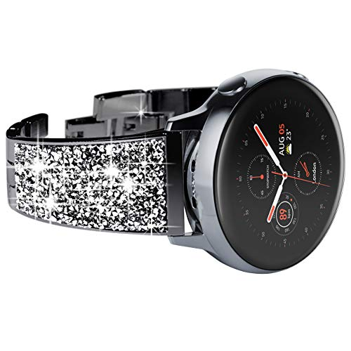 NewWays Compatible for SAMSUNG Galaxy Watch 4 40mm 44mm 42mm 46mm Band, 20mm Stunning Diamonds Bracelet with Quick Release Pin for Galaxy Active 2, Galaxy Watch 3 41mm, Galaxy Watch Smartwatch 42mm