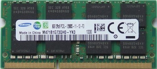 Samsung ram memory upgrade DDR3 PC3 12800, 1600MHz, 204 PIN, SODIMM for 2012 Apple Macbook Pro\'s, 2012 iMac\'s, and 2011 / 2012 Mac mini\'s (8GB ( 1 x 8GB ))