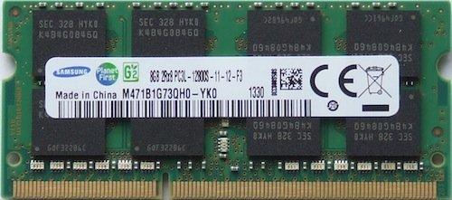 Samsung ram memory upgrade DDR3 PC3 12800, 1600MHz, 204 PIN, SODIMM for 2012 Apple Macbook Pro\'s, 2012 iMac\'s, and 2011 / 2012 Mac mini\'s (8GB ( 1 x 8GB ))