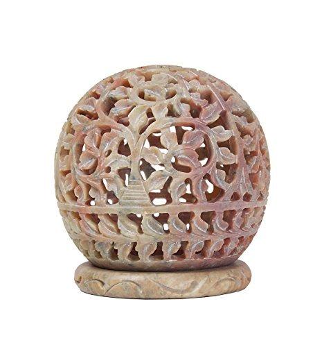 storeindya Handgemachte Stylla London handgefertigte graviert Speckstein Teelicht Votiv Kerzenhalter