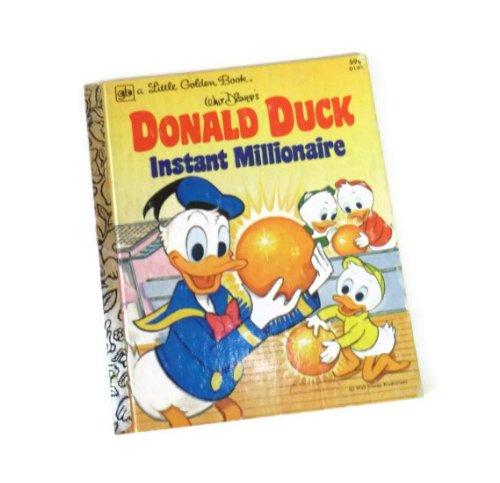 Donald Duck Instant Millionaire (Little Golden Book Hardcover 1978)