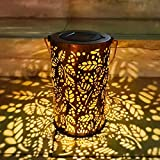 Lanterna Solare da Giardino, TOGAVE LED Lampada da Giardino Esterno Impermeabile IP44 Lanterna Luce Solare da Esterno Illuminazione Decorativa per Feste, Matrimoni, Patio, Parco, Natale