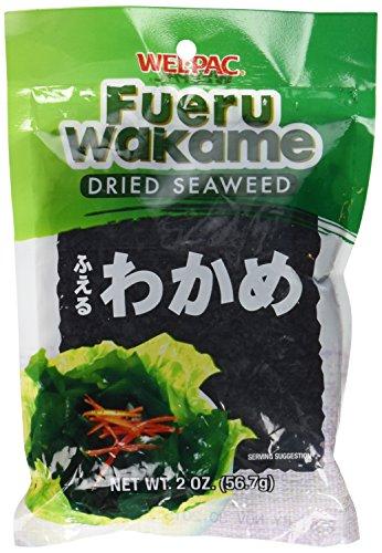 Wel-Pac - Fueru Wakame (Dried Seaweed) Net Wt. 2 Oz. (Pack of 2)