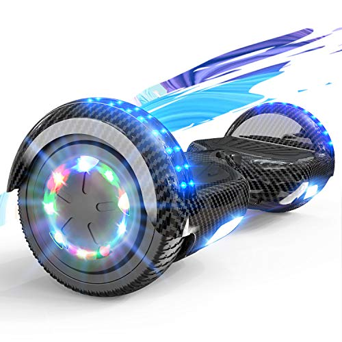 SOUTHERN WOLF Hoverboards - Patinete Eléctrico Autoequilibrado de 6,5 Pulgadas con Potente Motor de 2 * 350 W, Rueda Colorida LED y Altavoz Bluetooth, Apto para Niños de 8 a 12 Años