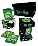 Rick And Morty Mug Gift Box Get Schwifty Logo Glass Coaster Official Green