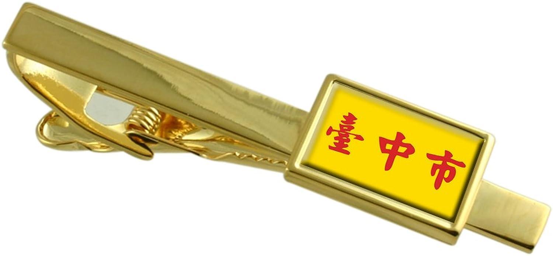 - Taichung City Taiwan Flag gold Tie Clip Clip Clip eed0a9